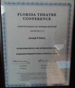 Florida Theatre Comference Lighting Design Seminar 2010