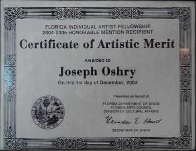 Florida Division of Cultural Affairs Artistic Merit 2004-2005