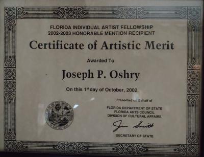 Florida Division of Cultural Affairs Artistic Merit 2002-2003